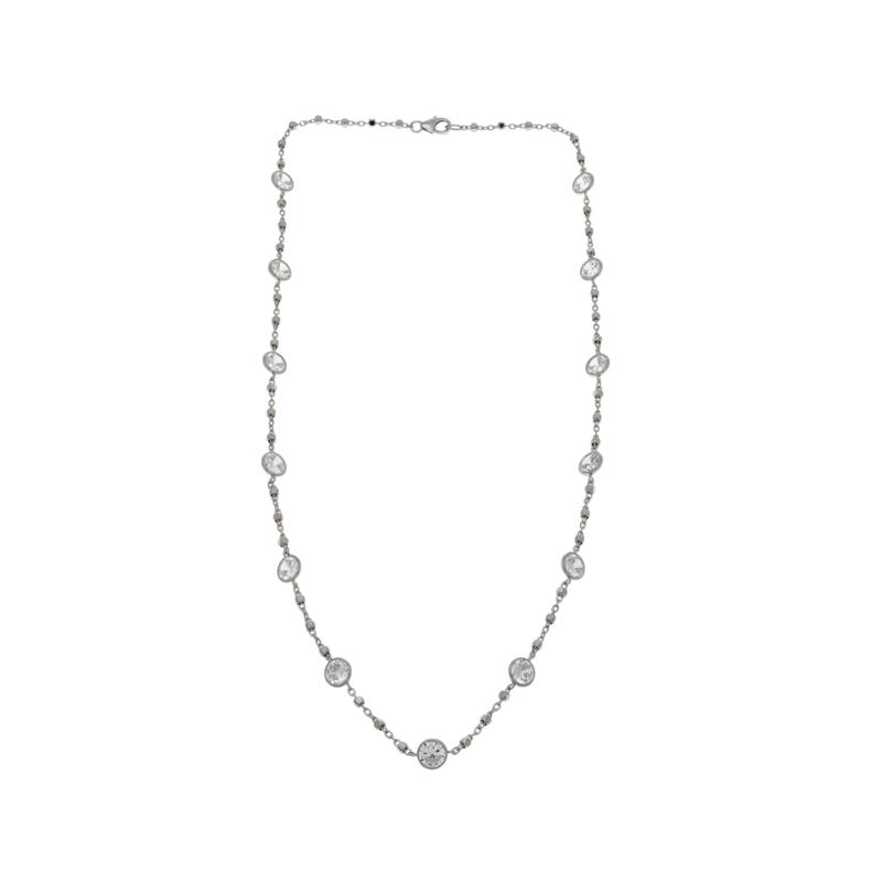 """Absolute™ 11.70ctw Round CZ 18"""" Station Necklace"""