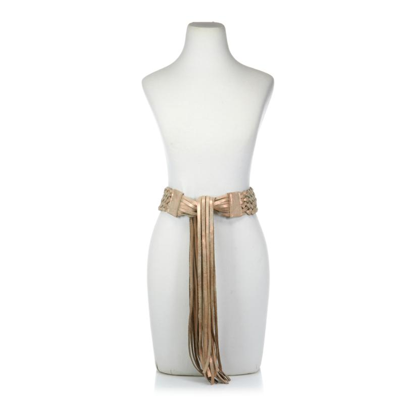 ADA Collection Zoe Braided Leather Wrap Belt