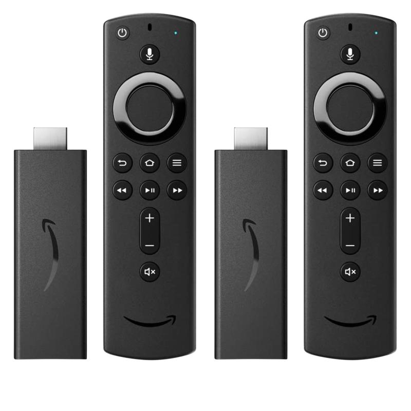 Amazon 2-pack Fire TV Stick Media Streamers with Alexa Voice Remotes