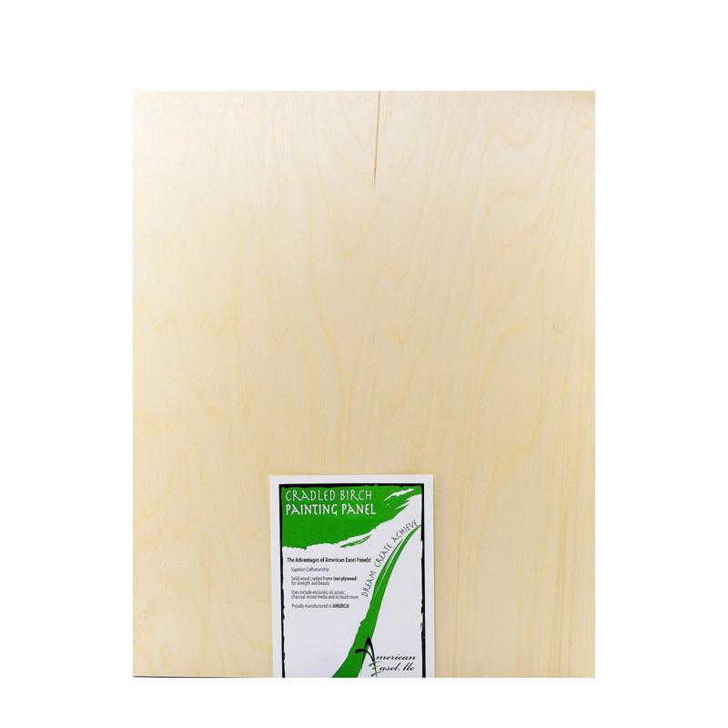 "American Easel 1 5/8"" Cradled Wood Painting Panels 20"" x 24"""