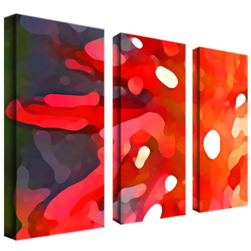 """Amy Vangsgard """"Red Sun"""" 3-Panel, Giclée-Print Set"""