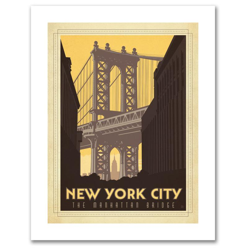 "Anderson Design Group ""Manhattan Bridge"" Canvas Art"