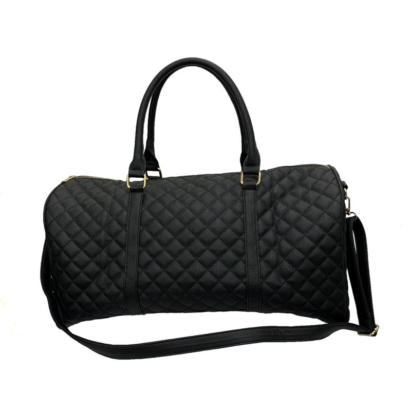 Anna Cai Faux Leather Quilted Tote