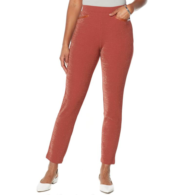 Antthony Crystal Couture Sparkle Knit Boss Lady Pant