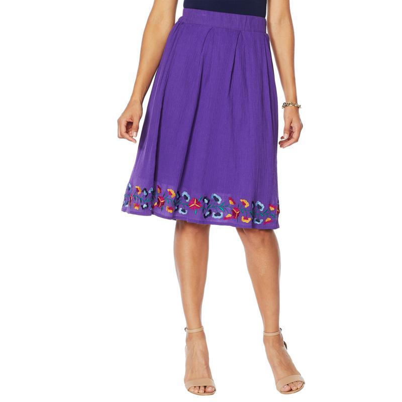 "Antthony ""Mexicali"" Cotton Gauze Box Pleat Skirt"