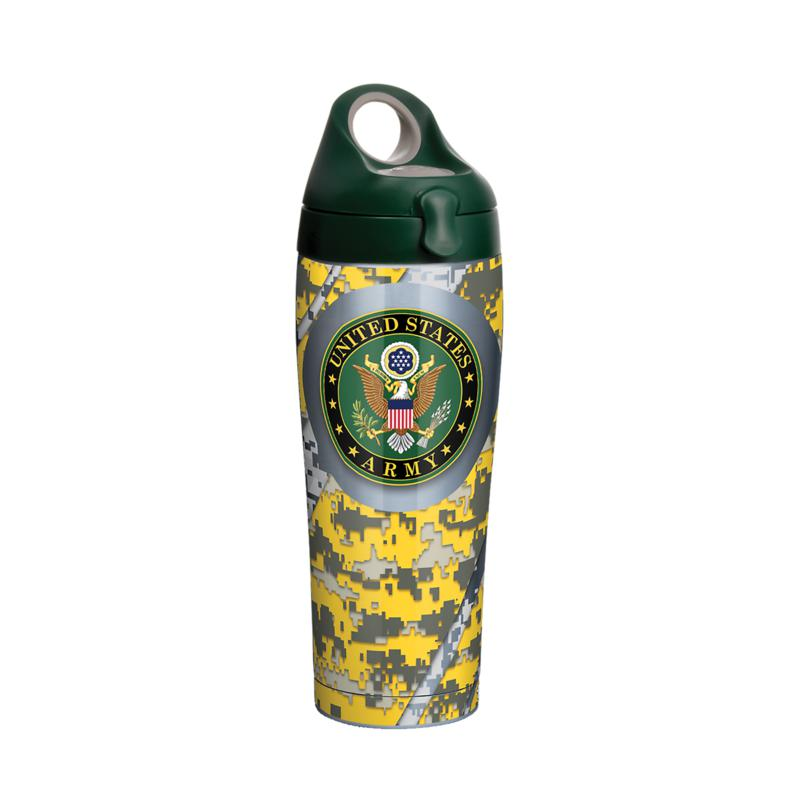 Army 24 oz Stainless Steel Water Bottle with lid