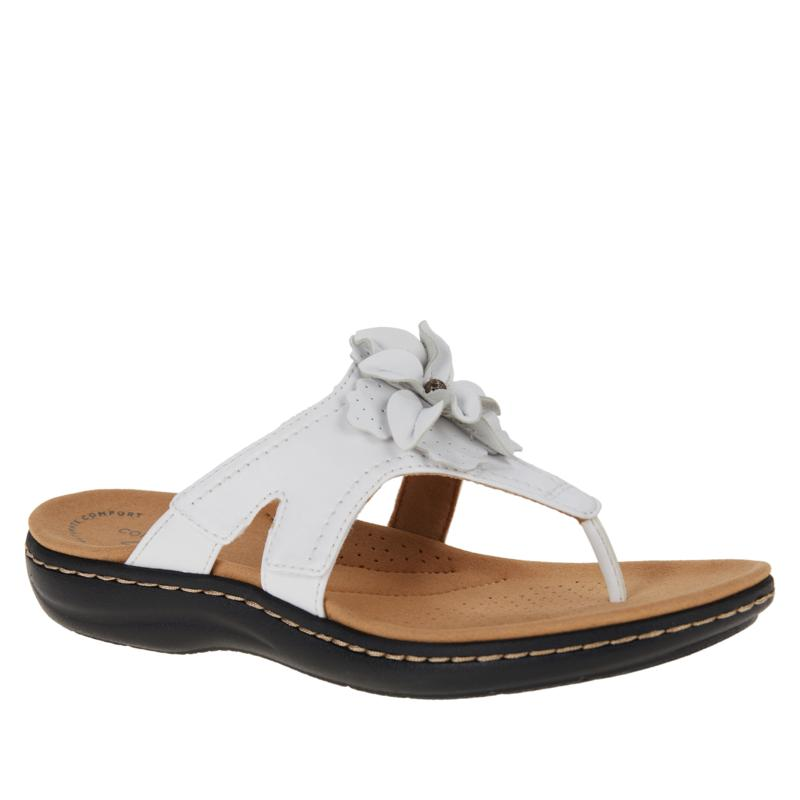 """""""As Is"""" Clarks Collection Laurieann Gema Floral Toe-Post Sandal"""