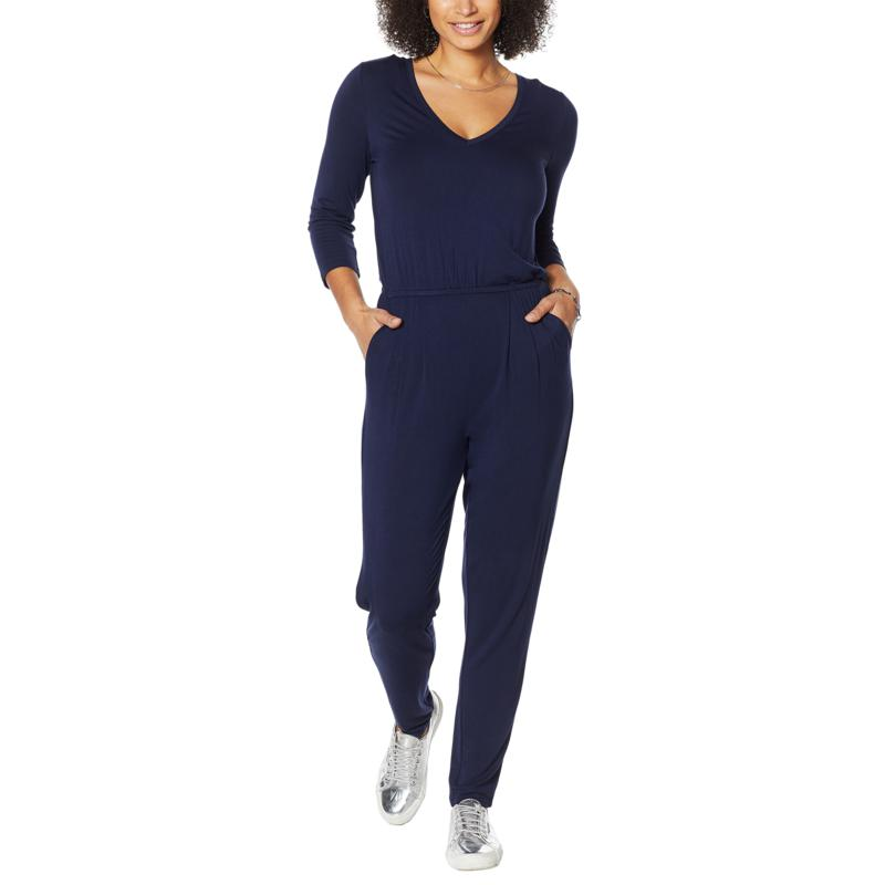 """""""As Is"""" Colleen Lopez Easy V-Neck Jumpsuit"""