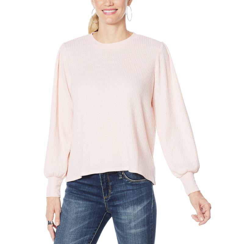 """""""As Is"""" Jessica Simpson Wilder Waffle Knit Tee"""