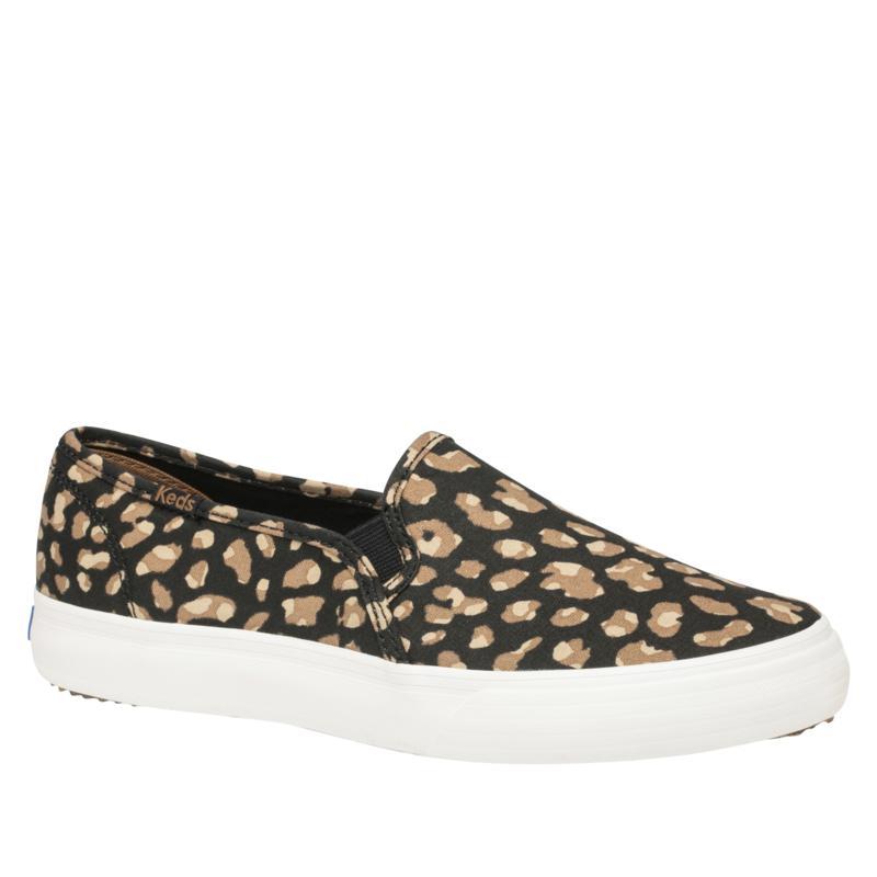 """As Is"" Keds Double Decker Animal Print Slip-On Sneaker"