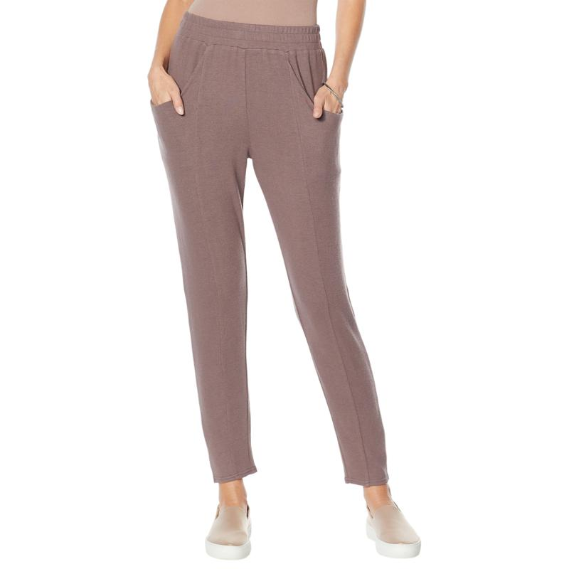 """""""As Is"""" ModernSoul® Brushed Soft Touch Hacci Slouchy Pant"""