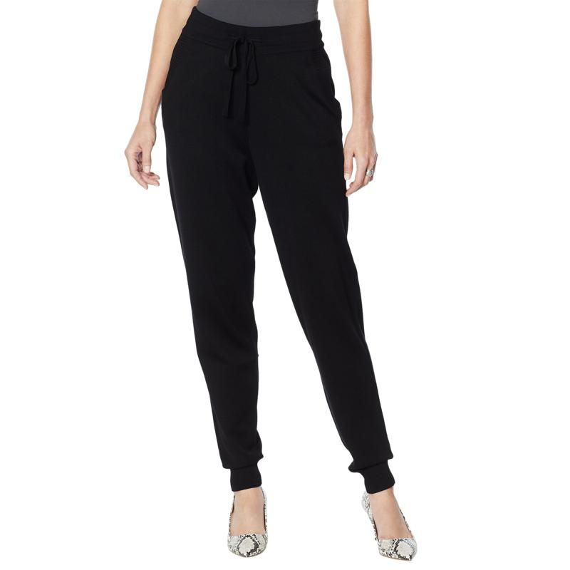 """As Is"" Nina Leonard Knit Drawstring Jogger Pant"