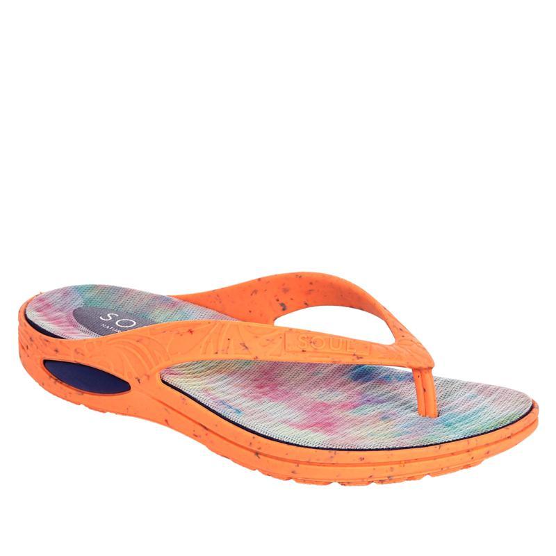 """As Is"" Soul Naturalizer Affinity Flip Tie-Dye Thong Sandal"
