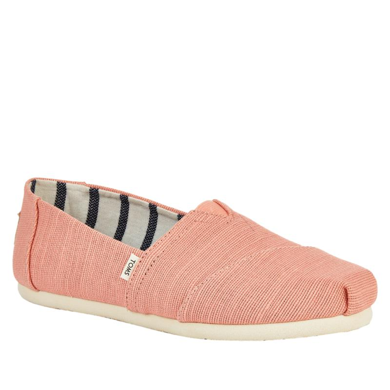 """As Is"" TOMS Classic Solid Canvas Slip On - Women"