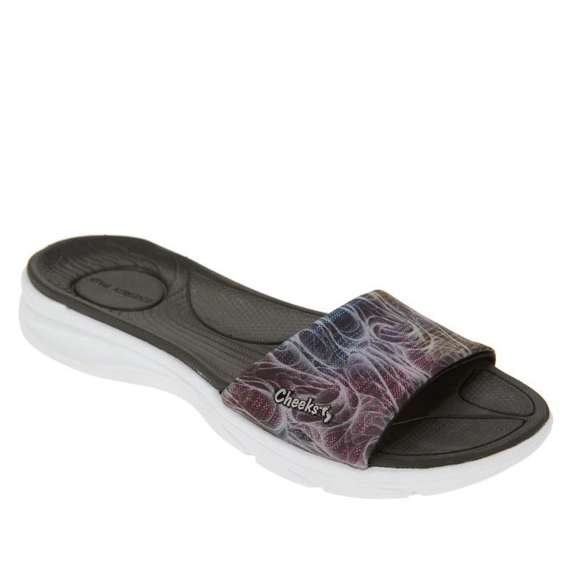 """As Is"" Tony Little Cheeks® Cushy's Slide Sandal"