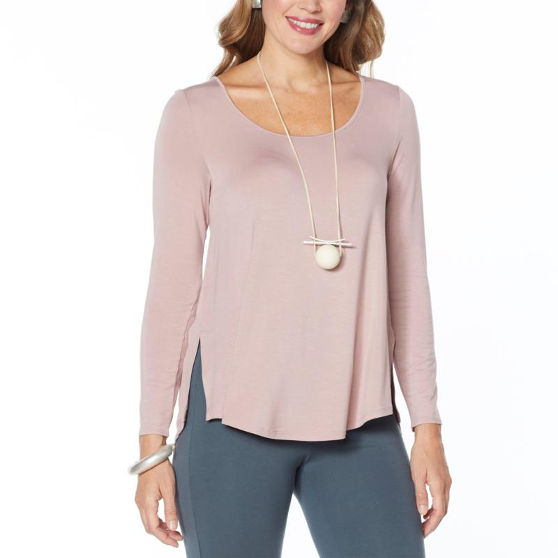 """As Is"" WynneLayers Scoop-Neck Long-Sleeve Knit Top"