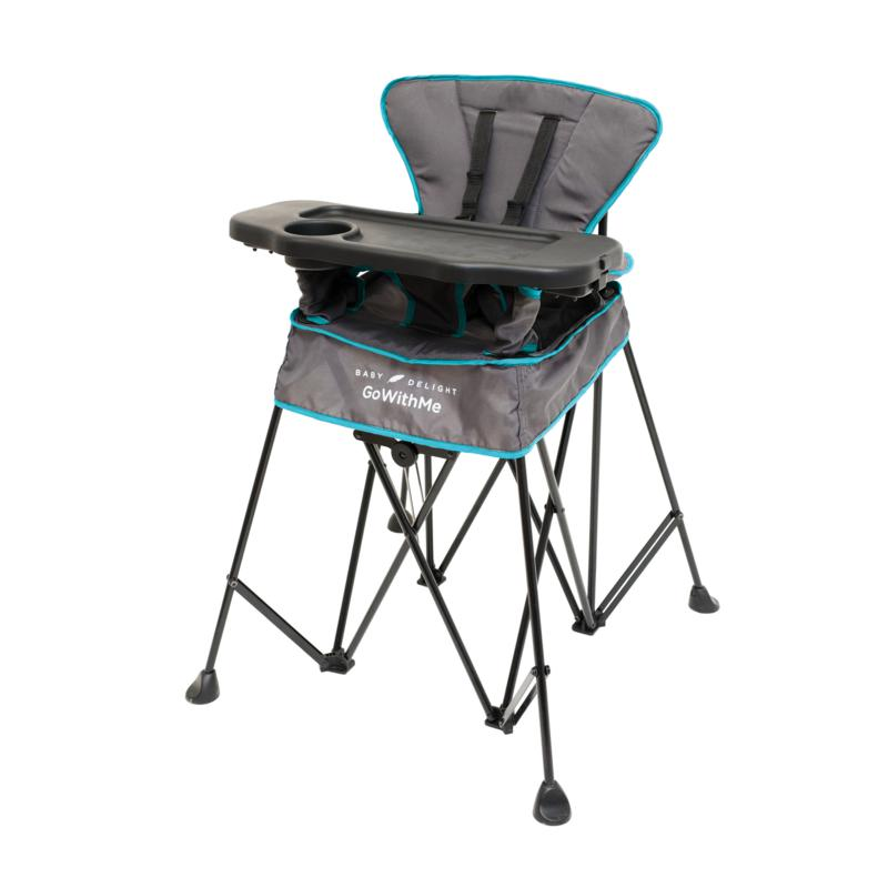 Baby Delight® Go With Me™ Uplift Deluxe Portable High Chair - Grey