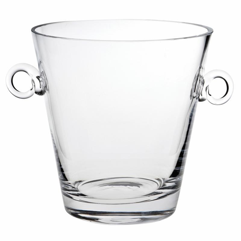 "Badash Manhattan Mouth-Blown Lead-Free 9"" Crystal Ice Bucket/Cooler"