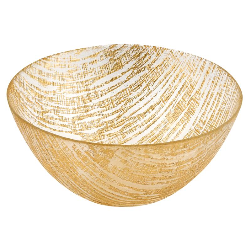 Badash Secret Treasure Handcrafted Gold Accent Glass Bowl