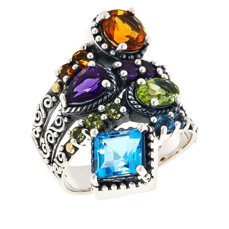 Bali RoManse Multi-Gemstone Wrap Ring