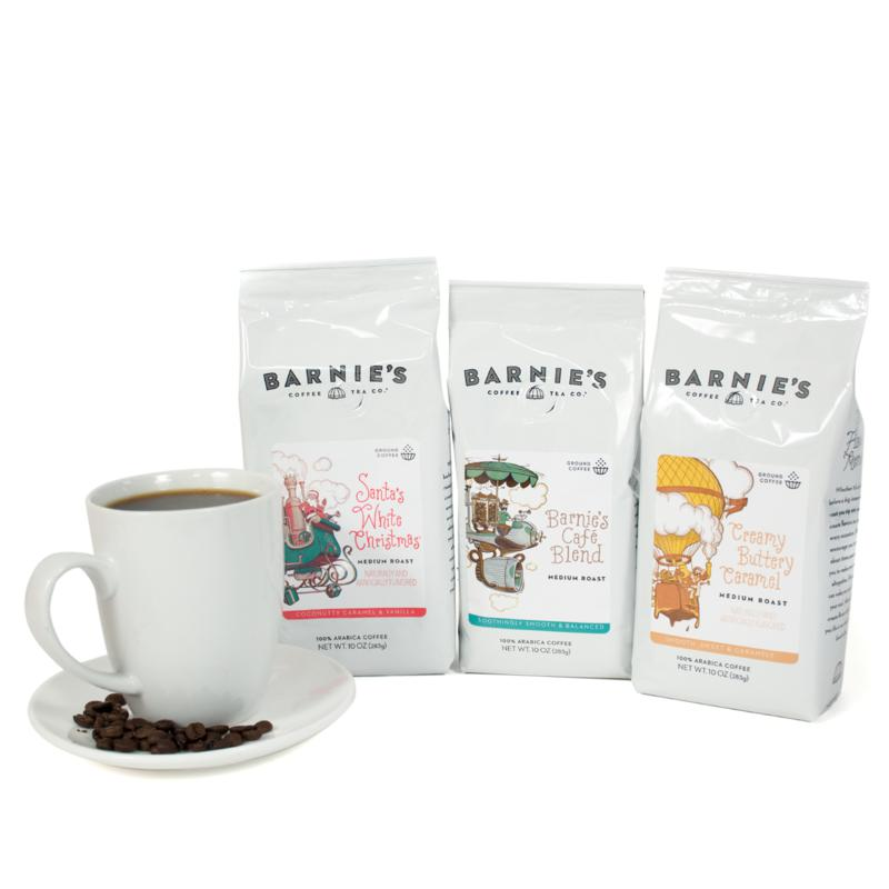 Barnie's Coffee Kitchen 3-pack of Ground Coffee Bags