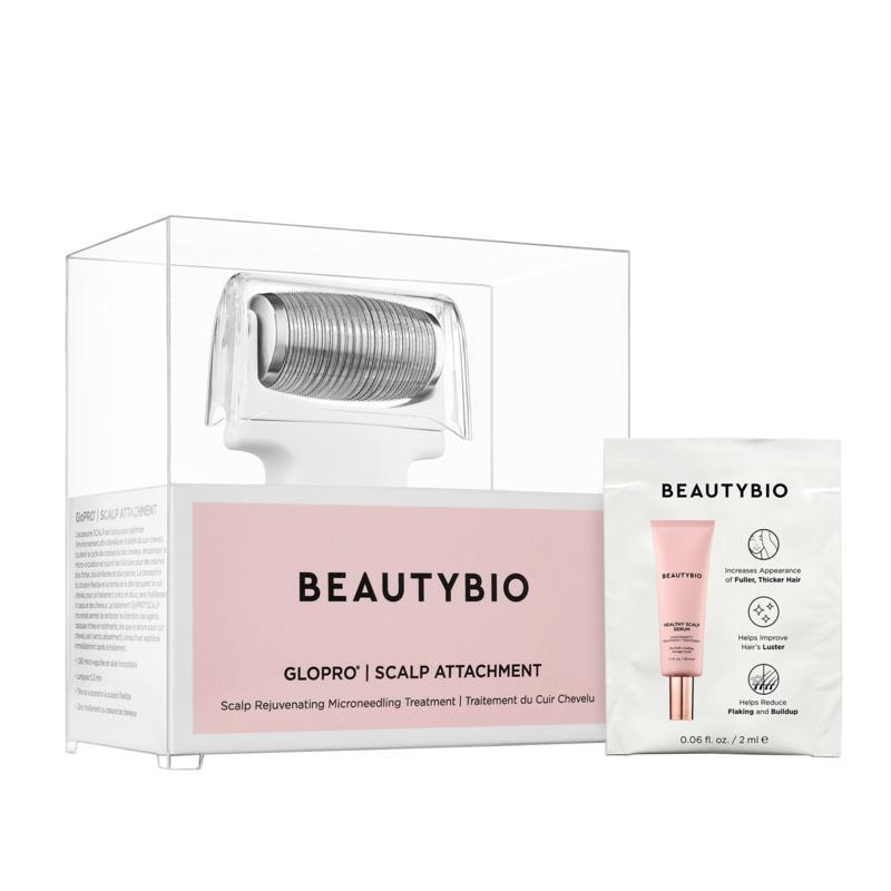 BeautyBio GloPRO Scalp Roller with Scalp Serum Sample