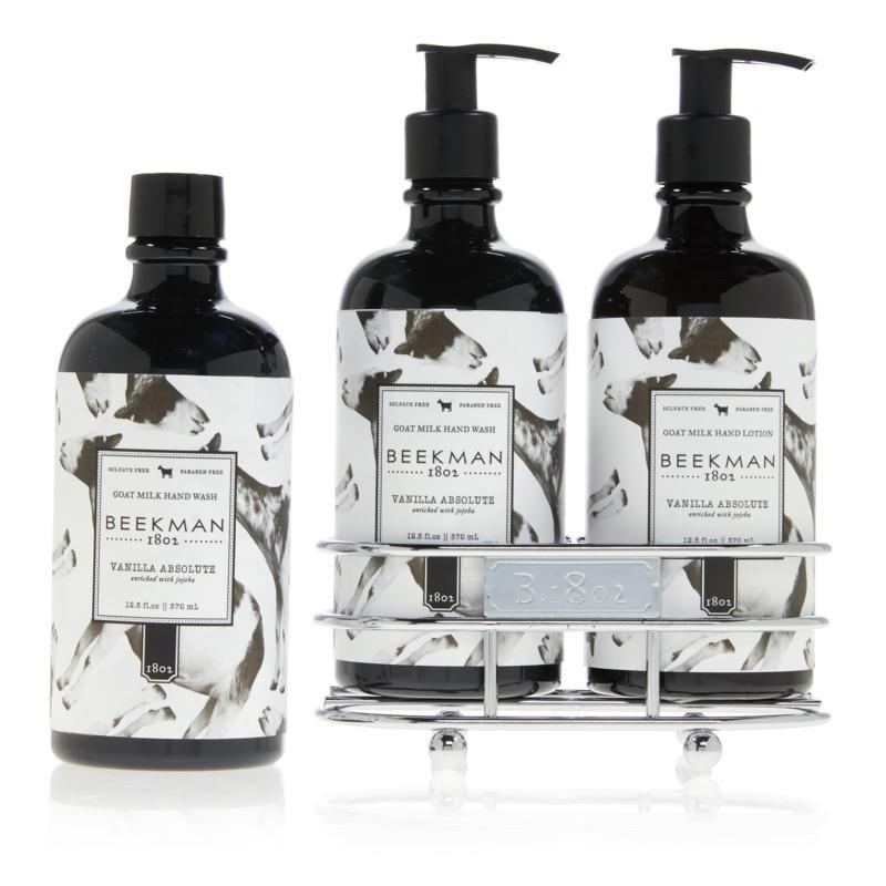 Beekman 1802 Vanilla Absolute Hand Wash & Lotion Caddy Set