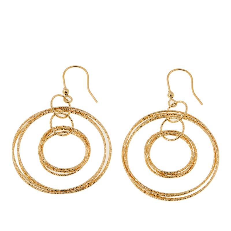 Bellezza Bronze Textured Multi-Circle Drop Earrings