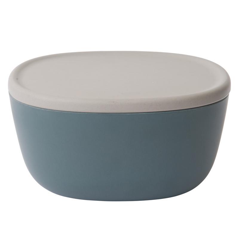 "BergHOFF Leo 9"" 3-Quart Blue Bamboo Covered Bowl"