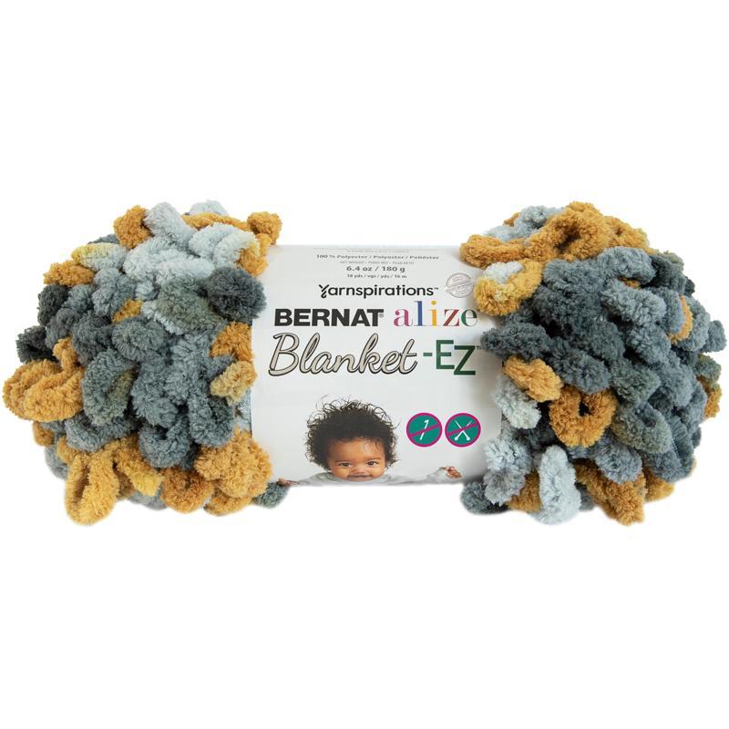 Bernat Alize Blanket-EZ Yarn - Harvest Grays