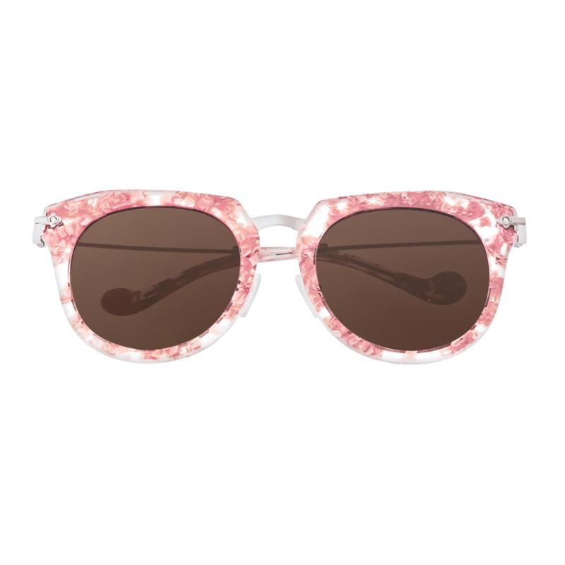 Bertha Aaliyah Polarized Sunglasses- Pink Tortoise Frame/Brown Lenses