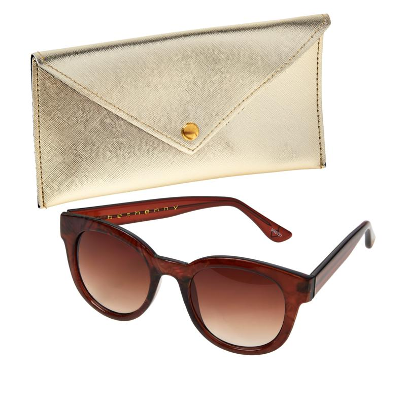 Bethenny Round Sunglasses with Case and Cleaning Cloth