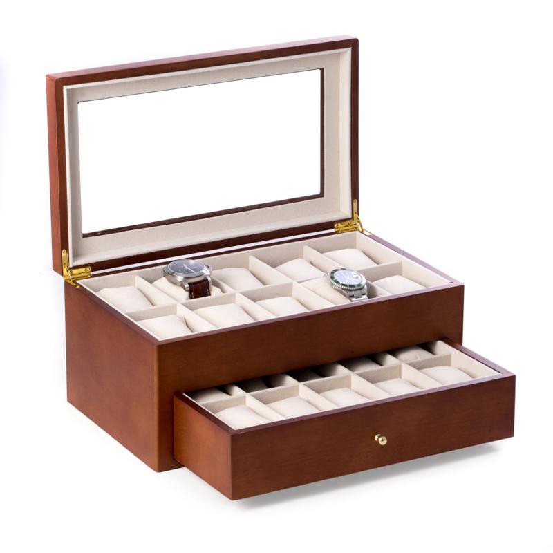 Bey-Berk Cherry Wood 20 Watch Box