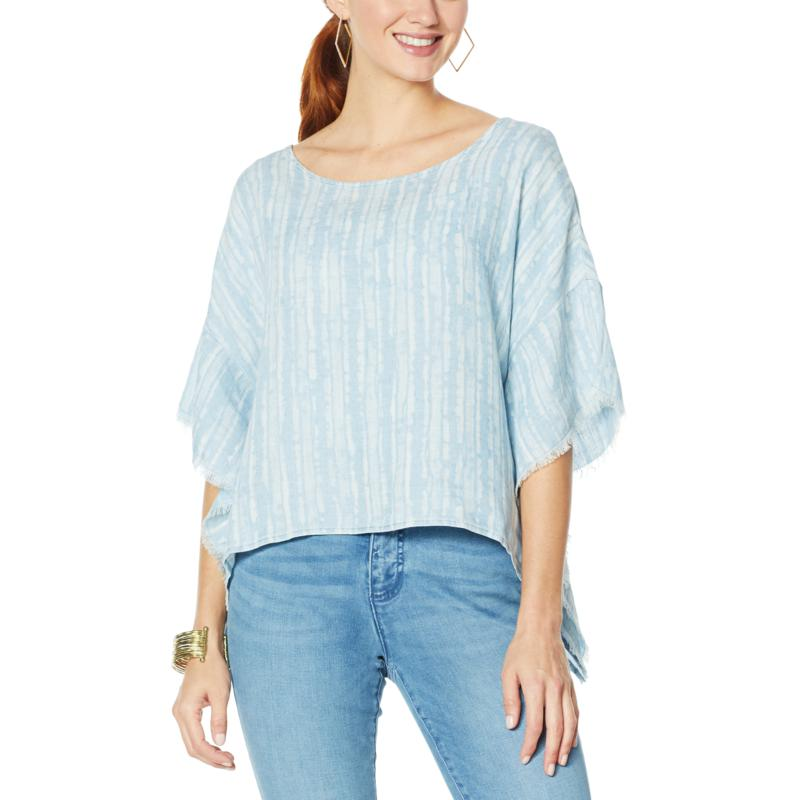 Billy T By the Seashore Popover Butterfly Top