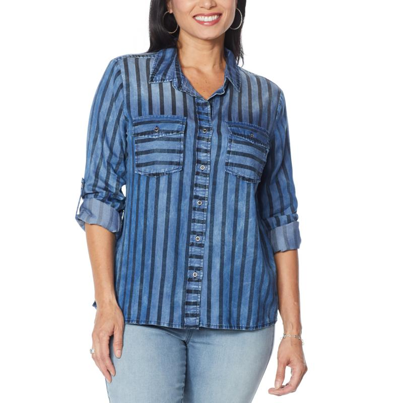 Billy T Classic  Button-Front Print Shirt