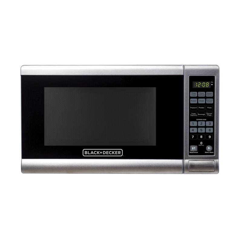 Black+Decker EM720CPY-PM 0.7 Cu Ft Digital Microwave -Stainless Steel
