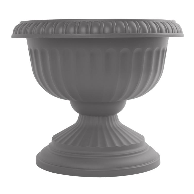 "Bloem Grecian Urn Planter 18"" - Charcoal Gray"