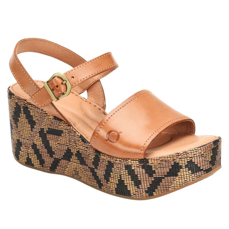 Born® Dorrah Leather Platform Wedge Sandal