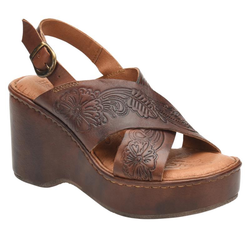 Born® Milo Leather Wedge Slingback Sandal