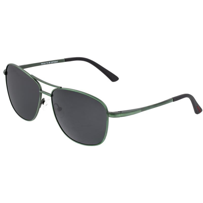 Breed Hera Titanium Polarized Sunglasses - Brown Frames, Black Lenses