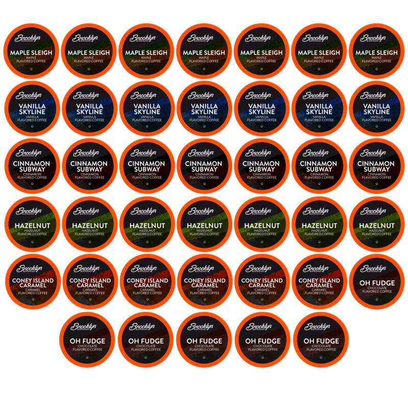 Brooklyn Beans Flavored 2.0 K-Cup Coffee Pods, Variety Pack 40-Count