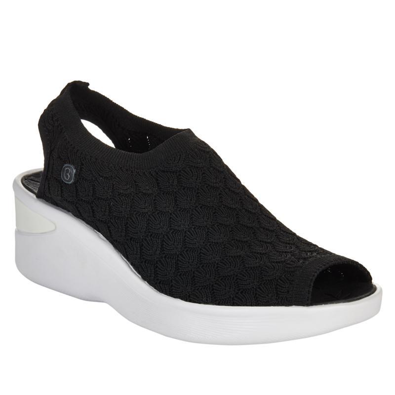 Bzees Secret Crochet Washable Peep-Toe Sandal