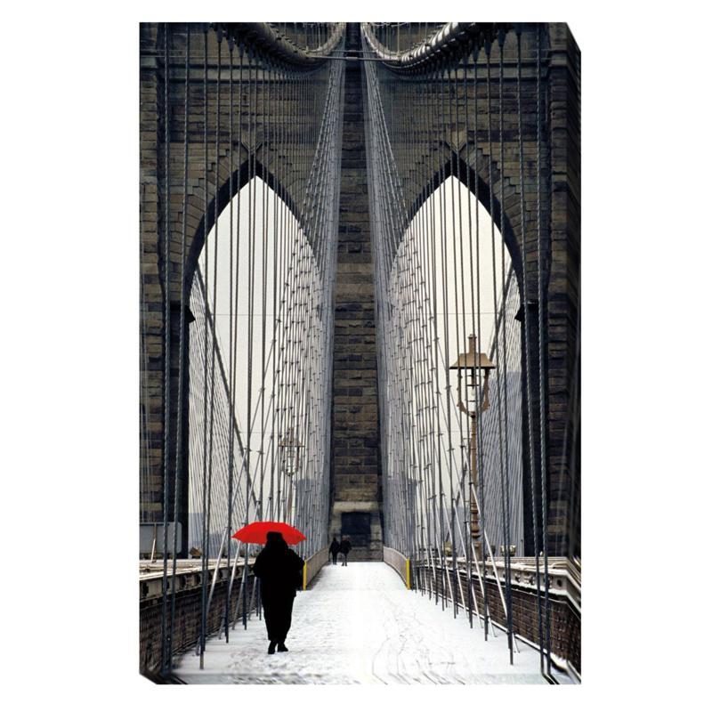 "Cahill ""Brooklyn Bridge Meets Red"" Wall Art - Small"
