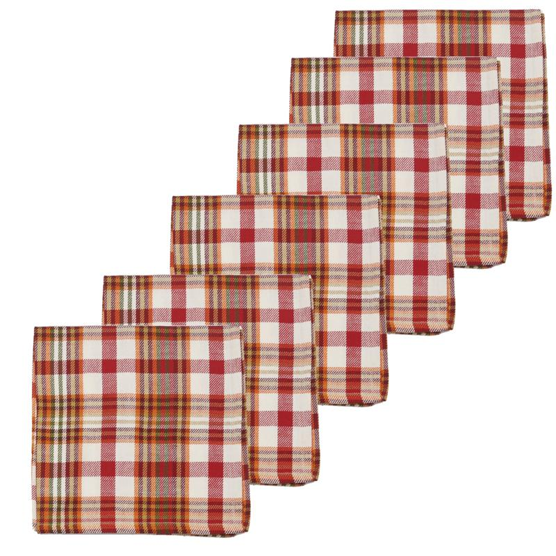 C&F Home Abingdon Plaid Napkin Set of 6