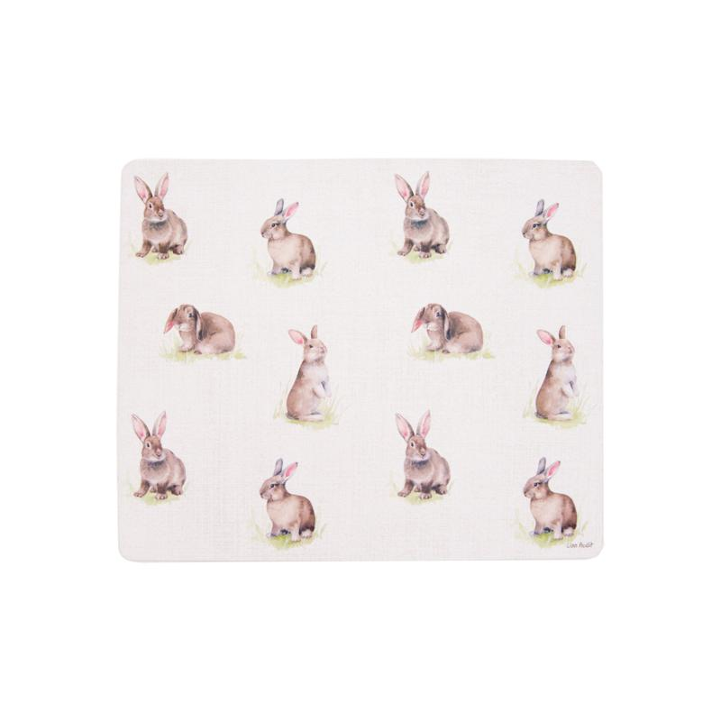 C&F Home Spring Bunny Hardboard Placemat Set of 6