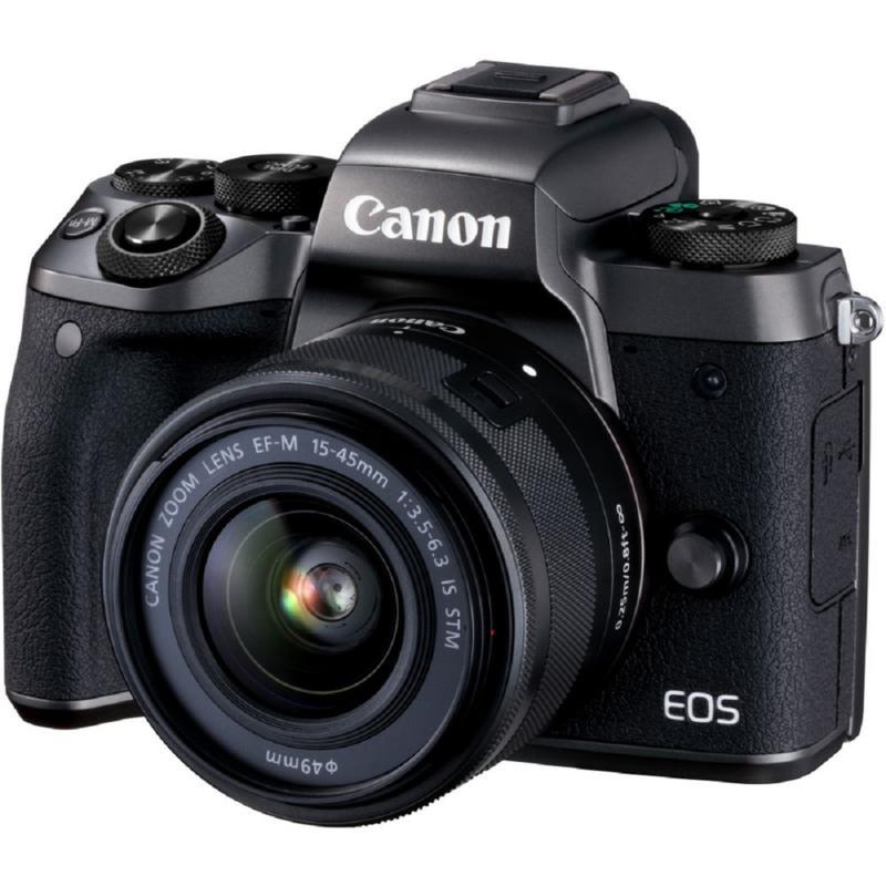 Canon EOS M5 Mirrorless Digital Camera w/15-45mm Lens & Accessories