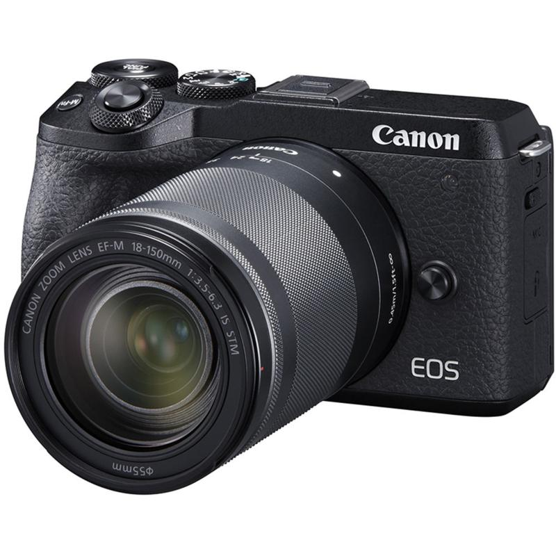 Canon EOS M6 Mark II Digital Camera w/18-150mm Lens & Viewfinder-Black