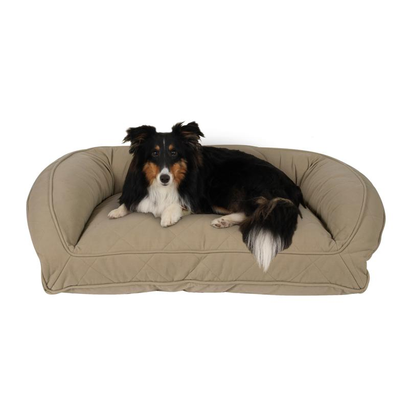 Carolina Pet Sm/Md Quilted Microfiber Bolster Bed with Memory Foam