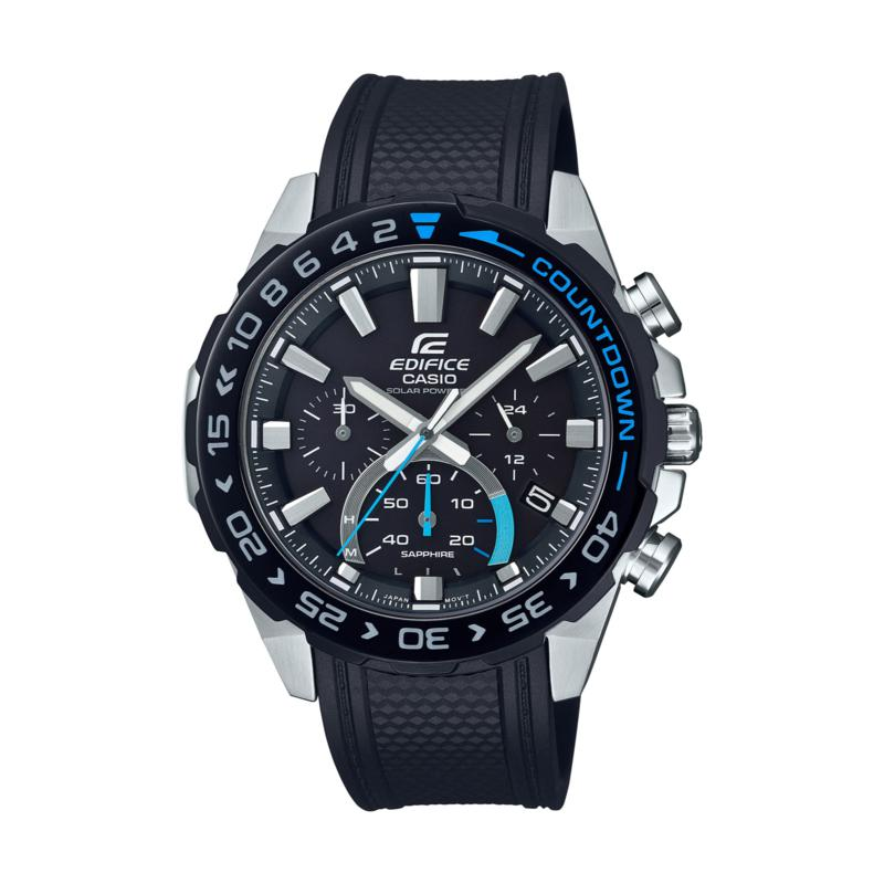 Casio Edifice Men's Solar-Powered Resin Strap Chronograph Watch