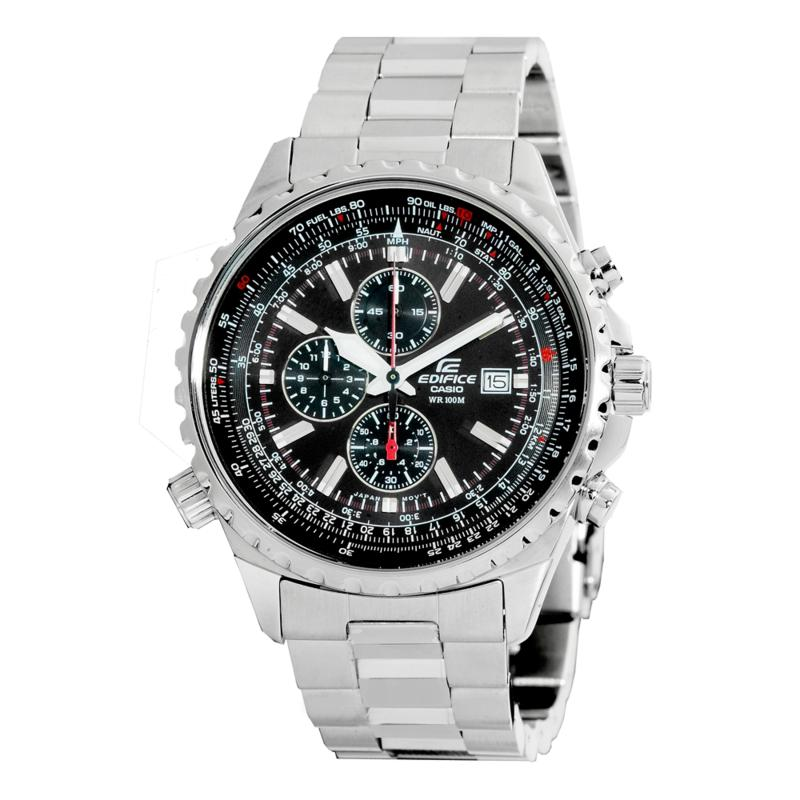 Casio Men's Steel Bezel Edifice Chronograph Watch